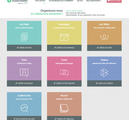 La Grattonnière : Outils coopératifs en ligne